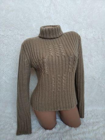 свитер теплый бежевый