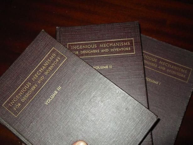 "3 volumes do livro"" Ingenious Mechanisms for designers and inventors"""