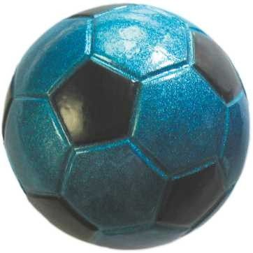 Piłka football Happet 40mm niebieska brokatowa