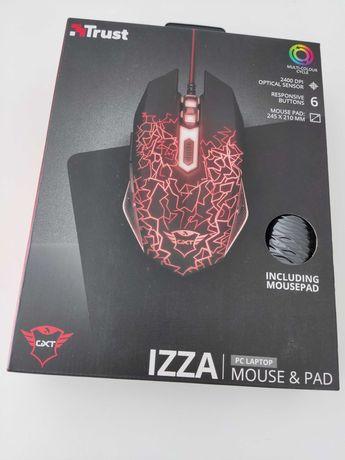 ## Rato ## Trust GXT 783 Izza Illuminated Gaming 2400DPI + Mouse Pad
