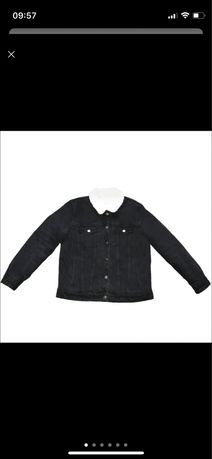 Оригинальная тёплая джинсовка на овчине от Bershka