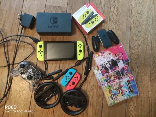 Konsola Nintendo Switch. Bogato wyposażona!