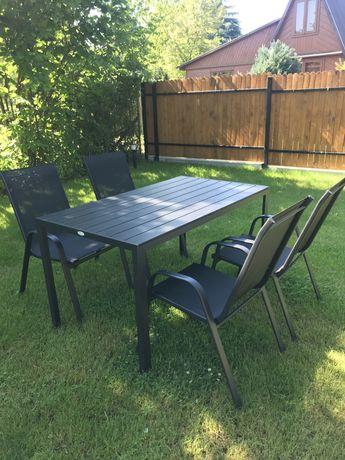 Meble ogrodowe stól + 4 krzesła