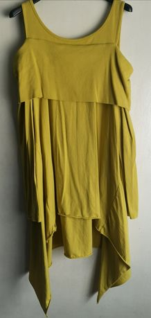 Bluzka tunika oliwkowa