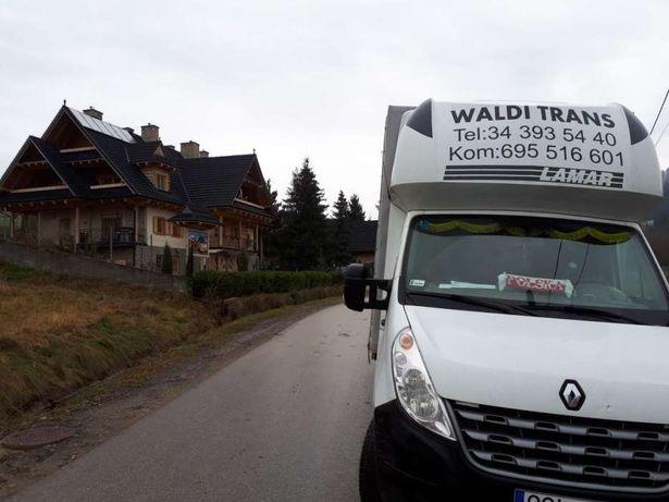 Transport towarów na paletach mebli transport kraj i zagranica powroty