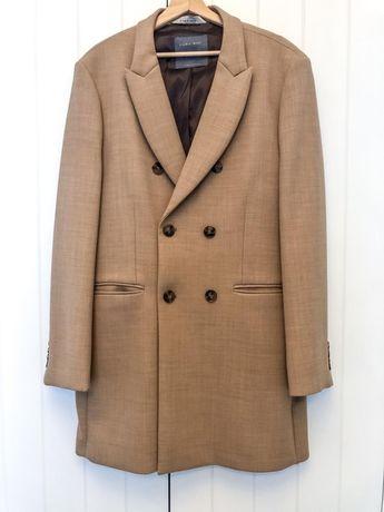 Płaszcz męski ZARA kamelowy XL