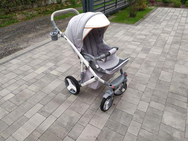 Wózek głęboko-spacerowy dla dziecka 3w1 Camarelo Avenger komplet