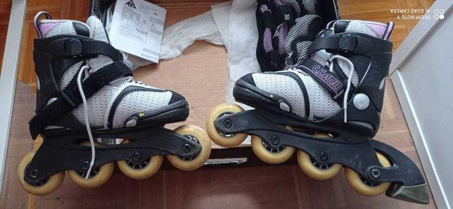 Rolki regulowane dziecięce K2 Skate Charm Pack
