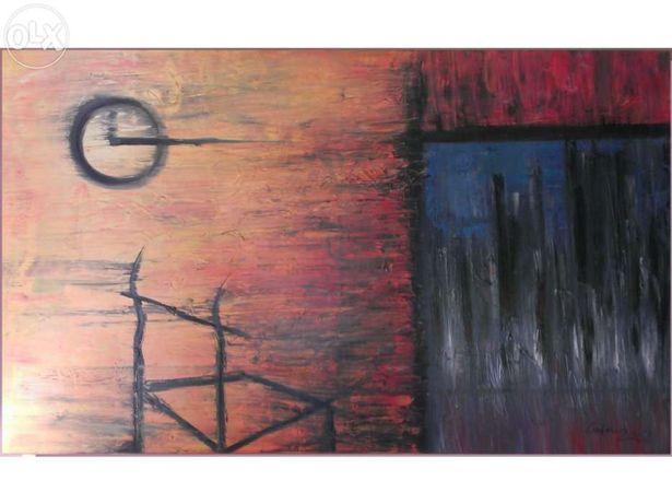 """Pintura a Óleo """"Meia noite e um quarto"""""""