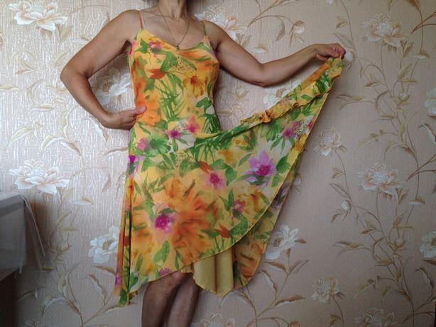Letnia sukienka Marks&Spencer kwiaty +prezent gratis