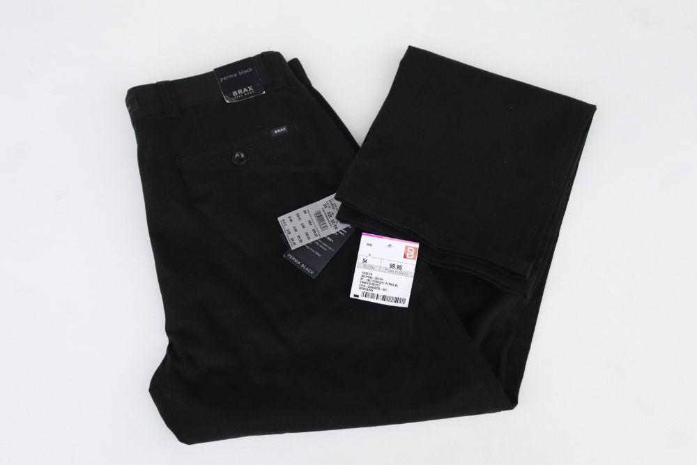 Nowe męskie spodnie chinosy Brax Feel Good ERNESTO W32 L34 perma plack