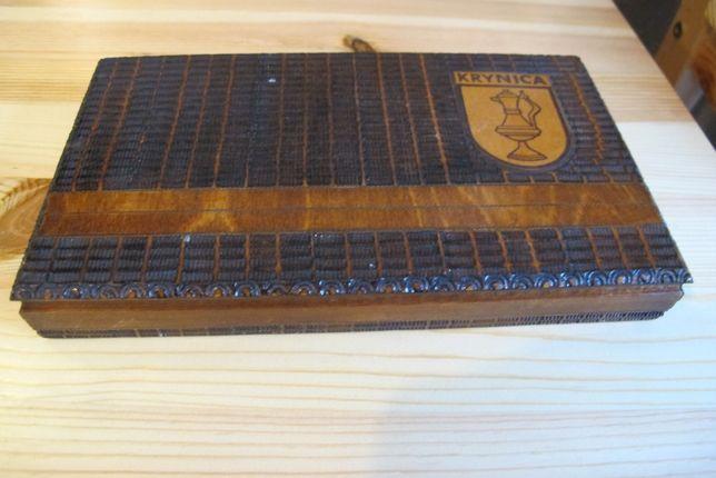 Pudełko drewniane szkatułka na papierosy
