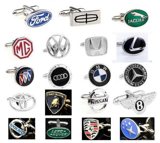 botões de punho de logos de carros
