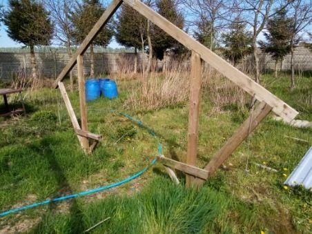 konstrukcja kurnik wiata drewutnia ogród gril