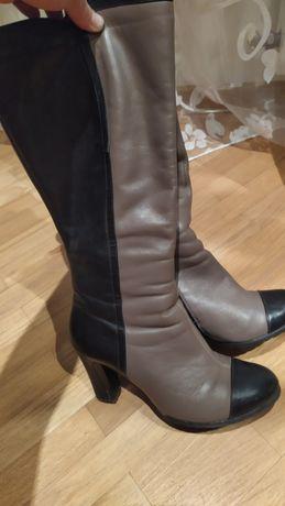 Зимові шкіряні чоботи в ідеальному стані.