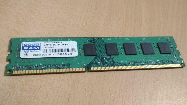 Pamięć RAM Goodram 8GB 1333MHz wymiana na 2x4GB