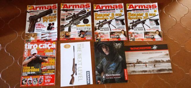 Lote de revistas de  caça e armas