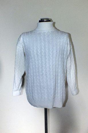 Sweter wełniany Biały Damski XL