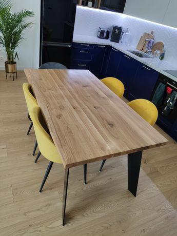 Stół dębowy loft industrial nowoczesny lity dąb 180x90
