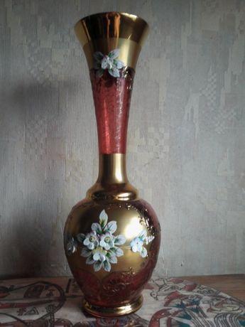 Ваза BOHEMIA для цветов с позолотой