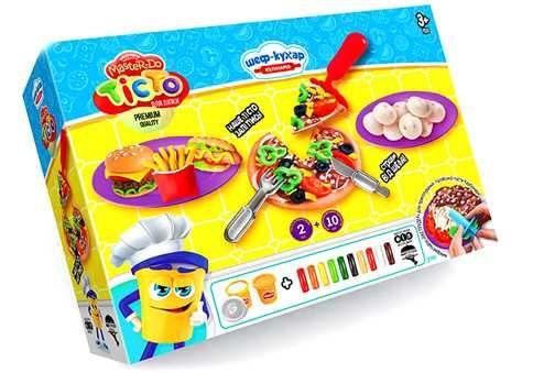 "Набір Danko Toys Тісто для ліпки ""Master Do"" шеф кухар піца"