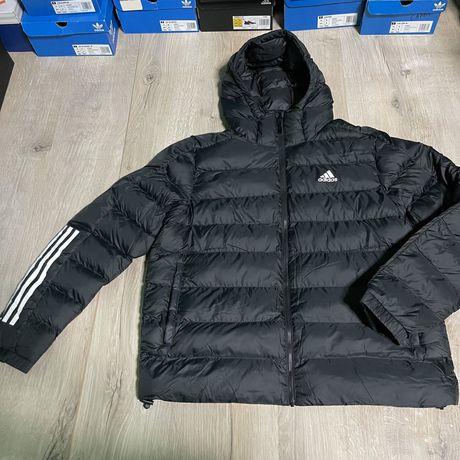 Оригинальная куртка с карюшоном пуховик Adidas S и L оригинал 100%