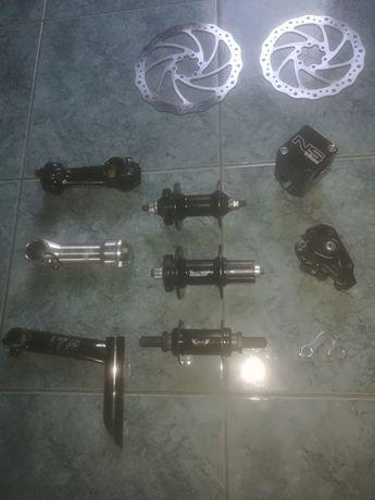 Dh, dirt, mtb, bmx części rowerowe piasty tarcze mostki