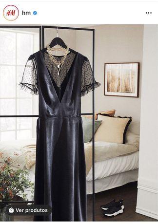 Vestido acetinado H&M (nº 38) novo preço