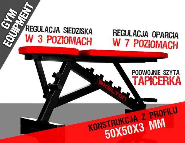 Ławka regulowana PL4 ŁAWECZKA do ćwiczeń _ 125 cm x 50 cm x 45 cm