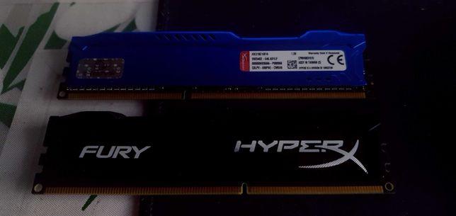 Pamięć Ram 8Gb (2x4Gb) Kingston Fury HyperX 1866Mhz DDR3 CL10 gaming