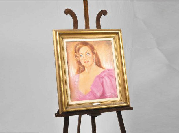 Pintura retrato de mulher - Constança Bracourte