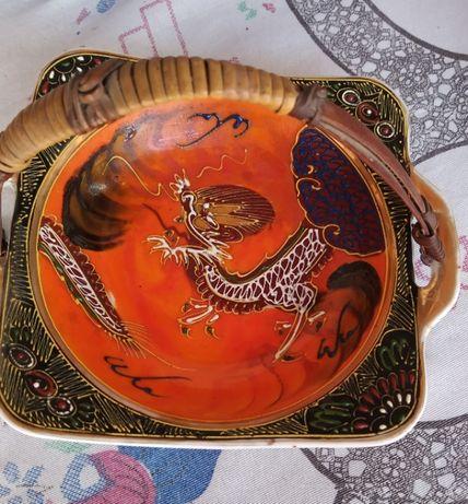 Taça antiga de Macau - peça de casa de bisavó avaliada por antiquário