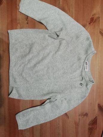 Sweterek H&M 100%bawelna z gwiazdkami na rękawach, rozm98/104