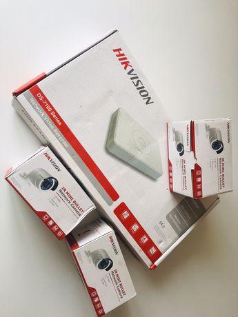 3 камеры +Циф.видеорег. DVR Hik Vision Network Recorder Ds 7100 Seri