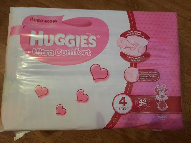 Хаггис ультра комфорт ( Huggies ultra comfort)  4 для девочек