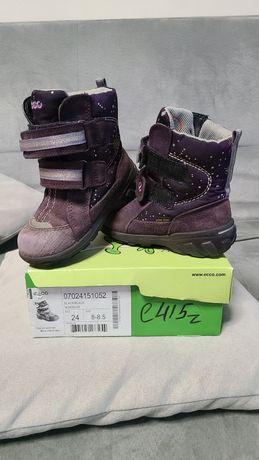 Зимние термо сапоги, ботинки Ecco 24 р.