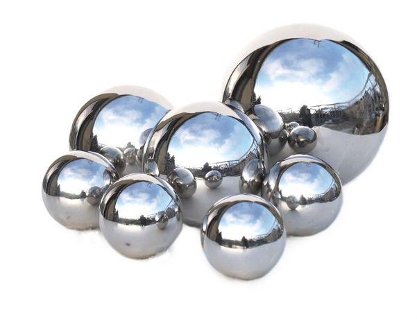 komplet 7 kul srebrnych metalowych 20,15,i 10 cm