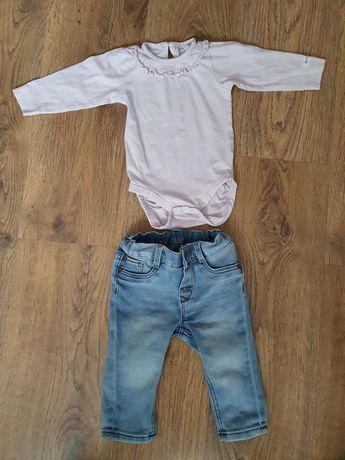 Zestaw jeansy hm body newbie