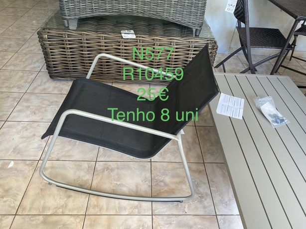 Cadeira baloiço e Conjuntos de jardim loja em liquidacao