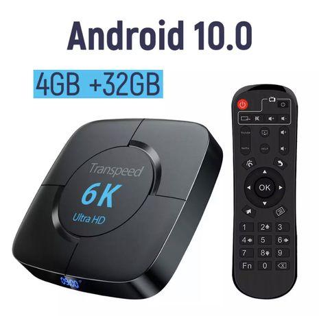 Transpeed Смарт ТВ приставка Android 10.0 4/32GB