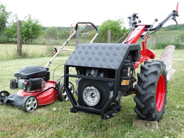 Ciągnik jednoosiowy traktor pług radło Goldoni Namiot Szklarnia