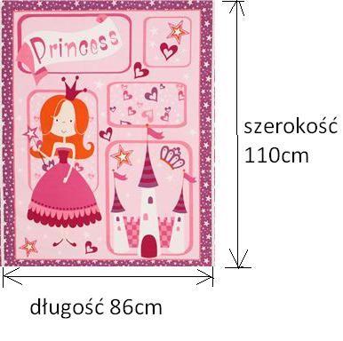 3,6mb Tkanina bawełniana panel księżniczka 86x110cm -4szt (3,6mb)
