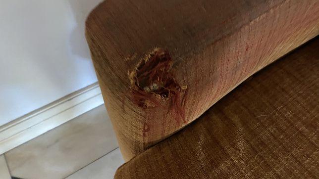 Sofa laranja usado