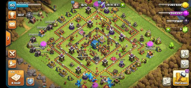 Clash of Clans 12 TH 155 LvL