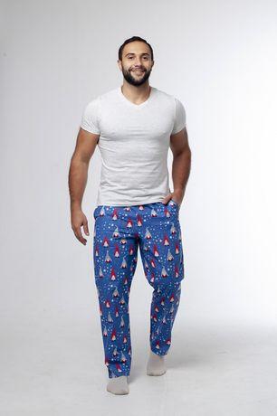 Новогодние штаны, пижама для дома, домашняя пижама, мужская пижама