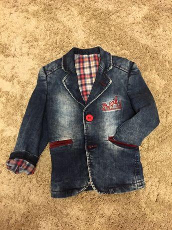 Новый джинсовый пиджак на мальчика