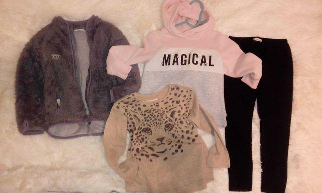 H&m 98-104,bluza,leginsy,polar,bluzka,spodnie