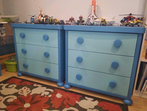 Meble Mamut Ikea niebieskie - duży komplet.