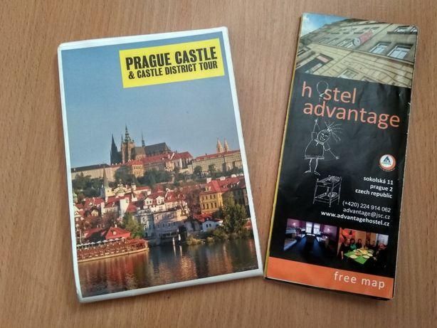 Туристична карта Праги туристическая карта Прага Prague map
