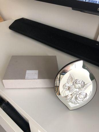 Pamiątka Chrztu Świętego firmy Beltrami , srebrny obrazek